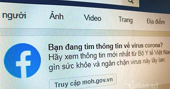Tìm virus Corona trên Facebook, người dùng Việt Nam được chỉ tới website Bộ Y tế