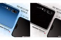 Lộ diện ảnh Huawei P20 Pro màu xanh: 3 camera sau, màn hình tai thỏ