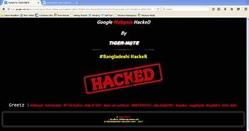 Google Malaysia bị tấn công