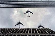 Hoành tráng đội hình máy bay chiến đấu bay qua Điện Kremlin