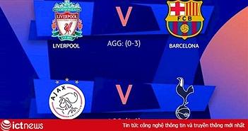 Lịch trực tiếp bán kết lượt về Champions League 2019