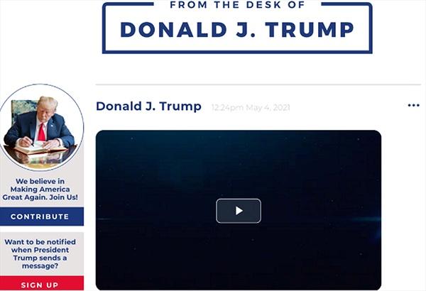 Cựu Tổng thống Donald Trump ra mắt nền tảng thông tin riêng