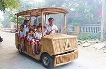 Độc đáo xe hơi làm bằng tre