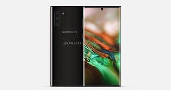 """Rò rỉ Samsung Galaxy Note 10 xuất sắc """"ăn đứt"""" iPhone Xs"""