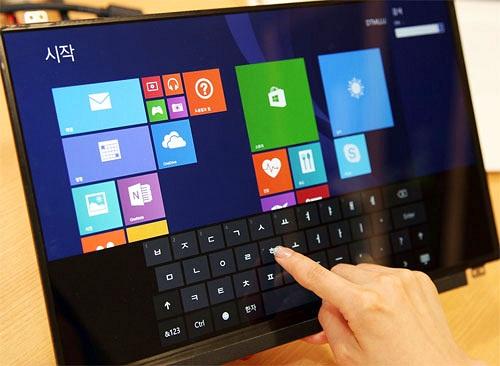 LG giới thiệu panel màn hình cảm ứng mới dành cho Notebook