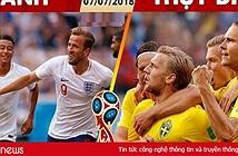 Link xem trực tiếp Thụy Điển vs Anh, Nga vs Croatia trên VTV6, VTV3 hôm nay