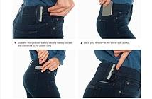 Sạc iPhone bằng quần jean