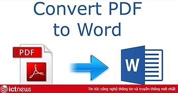 2 cách chuyển đổi PDF sang Word nhanh, miễn phí