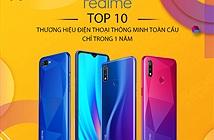 Realme tăng trưởng nhanh, lọt vào top 10 hãng smartphone toàn cầu