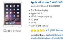 iPad mini 3 giảm giá 100 USD, dọn đường cho iPad mini 4?