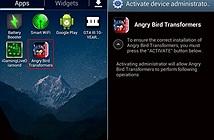 Trojan Angry Birds Transformers xóa sạch thẻ nhớ thiết bị Android