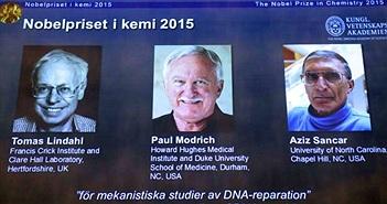 Khám phá hữu ích về ADN thắng giải Nobel Hóa học 2015