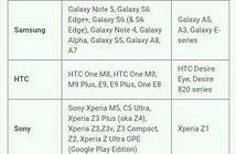 Hàng loạt smartphone sắp cập nhật Android 6.0