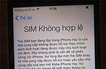 Chưa có cách khắc phục các iPhone bỗng dưng bị khóa SIM