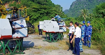 """Việt Nam """"hồi sinh"""" hỏa lực tàu Cảnh sát biển 8003 bằng pháo 2M-3"""