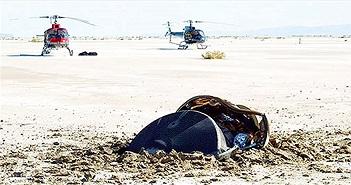 Vật thể giống đĩa bay rơi xuống sa mạc Mỹ