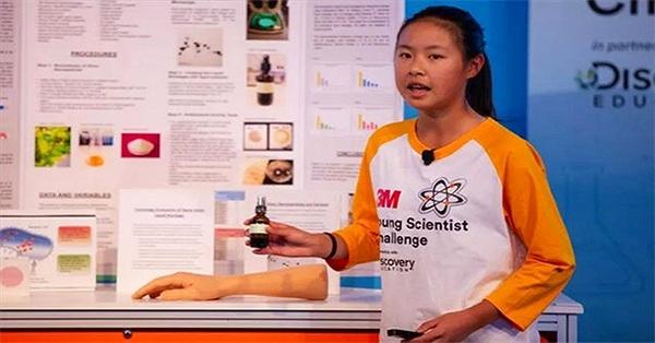"""Chế băng sơ cứu lỏng, """"nhà khoa học nhí"""" giành giải thưởng 25.000 USD"""
