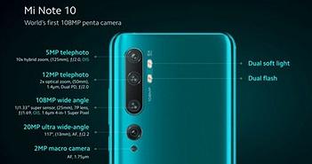 Bản quốc tế của Mi CC9 Pro chính thức mang tên Mi Note 10/Note 10 Pro