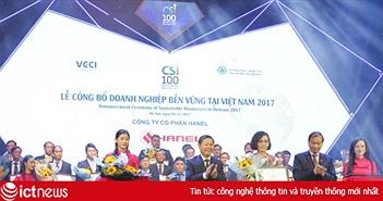 """Hanel năm thứ hai liên tiếp vào """"Top 100 Doanh nghiệp phát triển bền vững Việt Nam"""""""