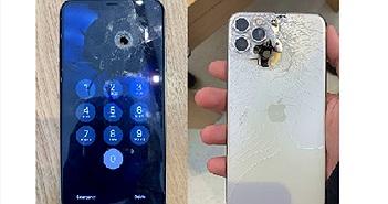 iPhone 11 Pro Max bị bắn xuyên thủng nhưng vẫn hoạt động