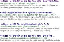 Docbao.vn bị phạt 15 triệu đồng vì vi phạm bản quyền bài báo về Hồ Ngọc Hà
