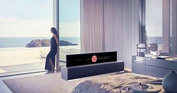 CES 2019: LG OLED R9 mẫu TV 'cuộn' đầu tiên trên thế giới ra mắt