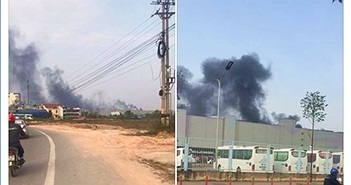 Chiều nay có cháy tại nhà máy Samsung Thái Nguyên