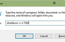 Câu lệnh này sẽ giúp bạn hẹn giờ tắt máy tính