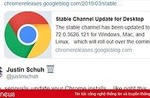 Trình duyệt Chrome dính lỗ hổng bảo mật nghiêm trọng, người dùng nên cập nhật bản mới nhất ngay