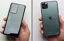 Thả rơi Galaxy S20 Ultra và iPhone 11 Pro Max có màn trở mặt nhanh hơn người yêu cũ