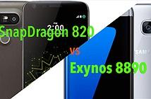 So sánh nhanh tốc độ Samsung Galaxy S7 Exynos/Snap820 và LG G5 SnapDragon 820