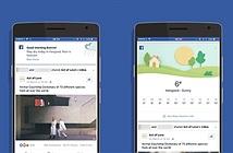 Mở ứng dụng Facebook nhận ngay thông tin thời tiết