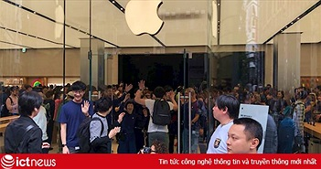 1.000 người nối đuôi nhau trước Apple Store mới mở ở Nhật Bản