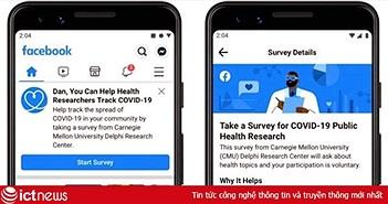 Facebook cung cấp dữ liệu khảo sát về sự lây nhiễm Covid-19