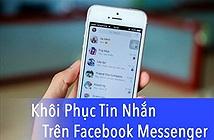 Cách xem lại tin nhắn đã xóa trên Facebook