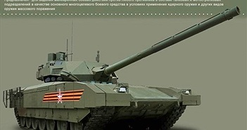 Thông tin gây sốc nặng về siêu xe tăng T-14 Armata