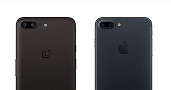 """OnePlus 5 như một bản sao """"trắng trợn"""" của iPhone 7 Plus"""
