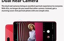 Rò rỉ cấu hình Oppo A3s với màn hình tai thỏ, camera kép, pin lớn