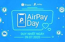 Giảm ngay 100K cho người dùng ví AirPay mua sắm tại Shopee, duy nhất lúc 0h01' ngày 09/07