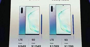 Video: Galaxy Note10+ 5G bản cao cấp nhất có giá 1.400 USD