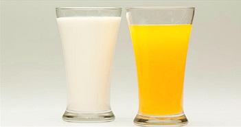 Nên uống nước cam hay sữa vào buổi sáng?