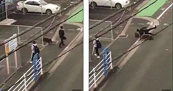 Đang đi trên phố thì bị lợn rừng lao đến tấn công dữ dội