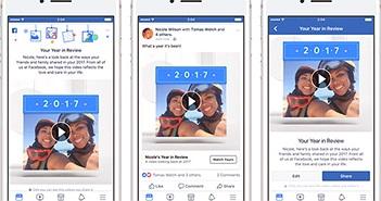 Facebook mở tính năng nhìn lại năm 2017