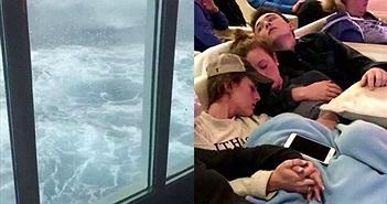 Hãi hùng sóng 9m tấn công tàu, hành khách chỉ còn biết làm điều này
