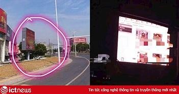 Trung Quốc: Nhân viên quản lý bảng quảng cáo chiếu phim người lớn vì tưởng màn hình đã tắt
