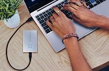 SSD di động Samsung T7 Touch: cảm biến vân tay, chịu va đập 2m