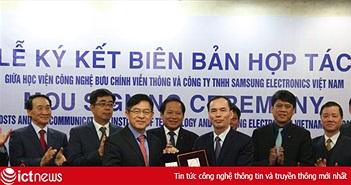 Bộ TT&TT muốn PTIT nhân rộng mô hình hợp tác với Samsung ra các lĩnh vực khác