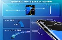 Màn hình của Galaxy S7 Edge cong luôn cả trên và dưới, cạnh trái phải có 4 mức cong khác nhau