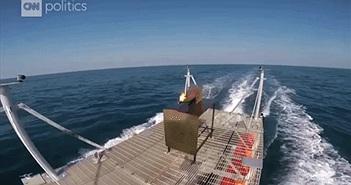 Hé lộ khả năng chiến đấu của vũ khí laser trên tàu chiến Mỹ