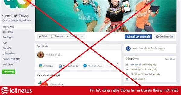 Viettel phối hợp cùng Facebook gỡ bỏ 186 trang fanpage mạo danh thương hiệu Viettel